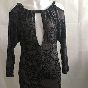 DIESEL Cold Shoulder Black Dress With Low Back Lg